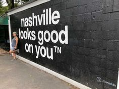 Find the best murals in Nashville Tennessee with this guide. Spotting street art is one of the coolest things to do there and you can get your fill in these four neighborhoods. Find favorite murals like the Wings and I believe in Nashville Nashville Vacation, Visit Nashville, Tennessee Vacation, Nashville Tennessee, East Tennessee, Nashville Quotes, Germantown Nashville, Nashville Star, Tennessee Girls
