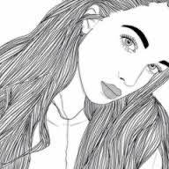Image result for desenho de menina tumblr