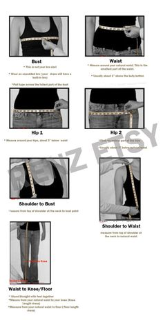 Measurement tipsDress by RenzRags on Etsy