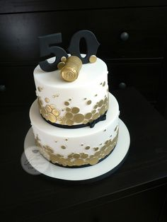 Champagne themed 50th birthday cake | Flickr - Photo Sharing!