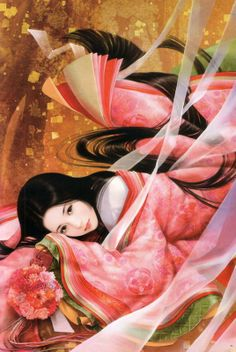 Murasaki no Ue from The Tale of Genji, illustrated by Taiwan artist William. http://www.facebook.com/taiwan.williams