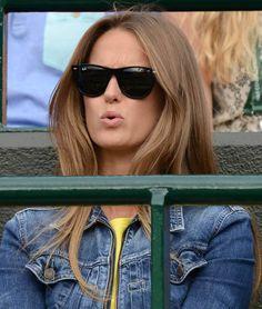 Kim Sears wins best hair at Wimbledon