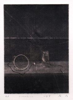 テーブルの向こうに/ メゾティント 林孝彦 Takahiko HAYASHI 1981