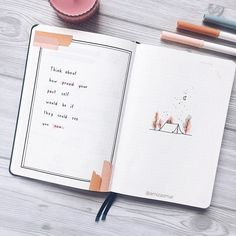 It's as simple as that. Sometimes all you need to start is just some simple doodles with a little bit of colors. Bullet Journal Voyage, Creating A Bullet Journal, Bullet Journal Cover Ideas, Organization Bullet Journal, Bullet Journal Quotes, Bullet Journal Lettering Ideas, Bullet Journal Notebook, Bullet Journal Aesthetic, Bullet Journal School