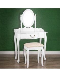 Toaletný stolík so zrkadlom a taburetom Zara