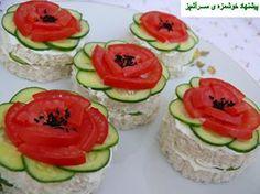 cucumber flower sandwiches