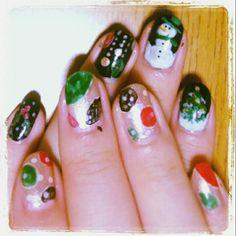 Christmas Nails#ネイル #ネイルアート  #セルフネイル  #セルフネイル部  #nail #nails #nailart #nailstagram #naildesign   #beautiful  #fashion  #art #arts #paint #Christmas #Christmasnail #