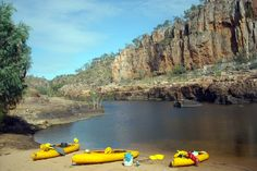 Katherine Gorge, Northern Territory, Australia- canoeing and a quick dip in here. No Salties.just Fresh Water Crocodiles in here. Just Fresh, Quick Dip, Crocodiles, Canoeing, Darwin, Fresh Water, Places To Visit, To Go, Australia