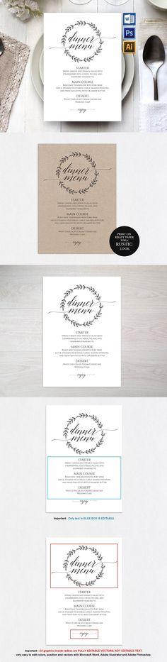 Wedding Menu Template Wpc89 Templates EPS, AI, PSD