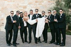 jewish wedding_bride and groomsmen
