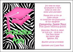 82 best graduation party open house invitations images on pinterest popular and creative party invitation wordings for all school graduations graduation invitation wording filmwisefo