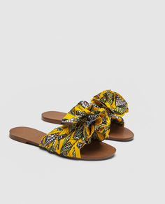 PRINTED FABRIC SLIDES-SHOES-TRF | ZARA United States