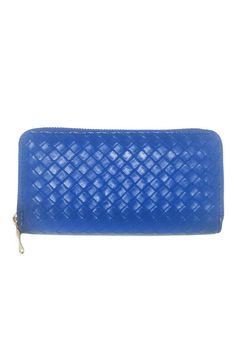 """This classic trendy wallet is embellished with gold hardware and a stylish weaved detail. Zipper closure. Inner pockets and 9 card slots.  Measures: 7 x 1 x 4""""  Weaved Wallet by Glam Squad Shop. Bags - Wallets & Wristlets Las Vegas"""