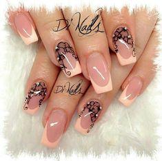 love these nails. French Nails, French Manicure Nail Designs, Nail Art Designs, Fabulous Nails, Perfect Nails, Gorgeous Nails, Pretty Nails, Nice Nails, Beautiful Nail Designs
