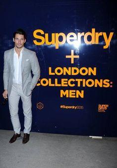 david gandy in LCM Superdry