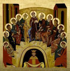 Pentecostés.Icono. (Kiko Argüello)