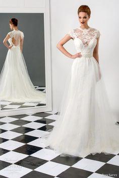 bien savvy #bridal 2015 sophia cap sleeve #wedding dress illusion high neck a line overlay mermaid skirt #weddingdress