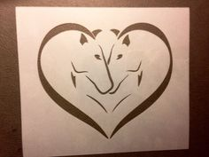 painting stencil In Love with Horses Stencil Painting, Everyday Items, Stencils, Solar, Horses, Unique Jewelry, Handmade Gifts, Etsy, Vintage