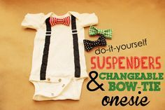 DIY Onesie: The Perfect Shower DIY + How to Make a Tie Tutorial
