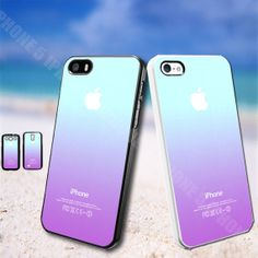 ombre blue teal purple iphone 5 case iphone 5s case by udinuscase, $8.99