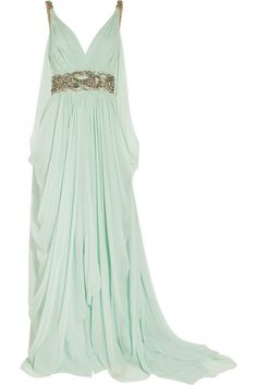 light-mint-gold-gown - Once Wed