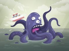 Today we'd like to pay a tribute to the giant sea monster. Back in the days he was a legend! Now he struggles with two jobs in deep salty waters between Norway and Greenland. Kraken is not a public...