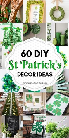 60 Gorgeous DIY St Patrick's Day Decor Ideas – This Tiny Blue House Celebrate St Patrick's day with these gorgeous DIY St Patrick's Day Decor. Diy St Patricks Day Decor, St Patricks Day Quotes, Happy St Patricks Day, St. Patrick's Day Diy, St Patrick's Day Crafts, Holiday Crafts, Crafts For Kids, Holiday Ideas, Dyi