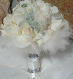 feather bouquets | Various Feather Wedding Bouquets Flowers Pictures