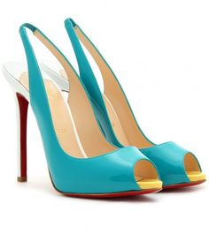 Christian Louboutin ~ Patent Leather Peep Toe Pumps
