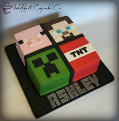 - Minecraft World Minecraft Cake Pops, Minecraft Party, Pastel Minecraft, Minecraft Birthday Cake, Minecraft Crafts, Minecraft Skins, Ideas Minecraft, Minecraft Cookies, Lego Minecraft