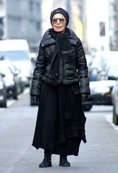 random awesome 77 year old woman with amazing style - true inspiration.
