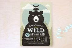 Into The Wild Children's Birthday Party Invitations by Ann Gardner at minted.com