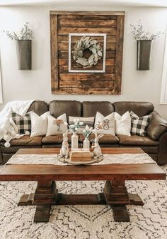 31 Inspiring Rustic Farmhouse Living Room Decor Ideas , 31 Inspiring Rustic Farmhouse Living Room Decor Ideas 31 Inspiring Rustic Farmhouse Living Room Decor Ideas Always wanted to discover how to knit, alt. Farmhouse Living Room Furniture, Living Room Interior, Home Living Room, Apartment Living, Living Room Designs, Rustic Living Room Decor, Brown Couch Living Room, Living Room Decor With Brown Furniture, Brown Home Decor