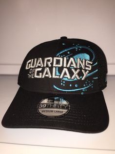 Guardians of the galaxy all black with curved brim has G on the back