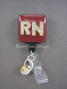 RN Name Badge holder. My mom would love this! Nurse Jewelry, Jewelry Gifts, Unique Jewelry, Id Badge Clip, Badge Reel, Name Badges, Id Badge Holders, Nurse Life, Craft Sale