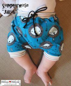 Freebook Jakob kurze Hose/Pumphose 56-92 für Babys/Kinder nähen