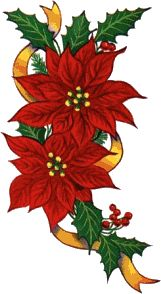 red christmas poinsettia school holidays clipart borders rh pinterest com free poinsettia clipart images free clipart poinsettia flowers