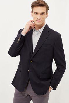 Cortefiel Classic fit blazer  Blue