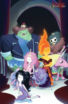 Adventure Time by Kris Anka, colours by Fabian Monk Adventure Time Princesses, Adventure Time Girls, Adventure Time Characters, Cartoon Network Adventure Time, Adventure Time Anime, Fin And Jake, Jake The Dogs, Lumpy Space Princess, Flame Princess