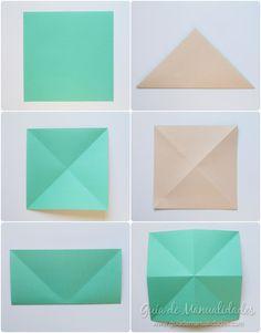 Cómo hacer grullas de origami y armar un móvil - Guía de MANUALIDADES Coasters, Diy, Kawaii, Projects, How To Make, Paper Ornaments, Paper Envelopes, Build Your Own, Blue Prints