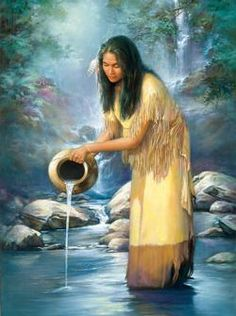 Waterfall Maiden Native American Jigsaw Puzzle