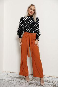 2bfc7761 burnt orange fashion / designer pants / capri pants outfits wedding guest  fashion / fashion wedding