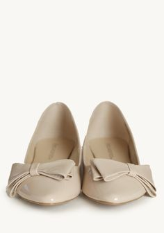 Little Luxuries Bow Flats In Taupe | Modern Vintage New Arrivals