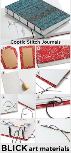 As early as the 2nd century AD, Coptic Christians living in Egypt employed a simple stitching method to bind books. Still in use today, an advantage of journals sewn in the Coptic style is that they lie completely flat when open. Use bleedproof paper, watercolor paper, or any multi-media paper to customize your Coptic journal!