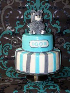 Lukrowane Ciastko: Tort na Chrzest Igora,  Christening,  boy birthday,  baby shower.