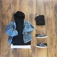 S street fashion, boy fashion, urban fashion, mens fashion, fas Dope Outfits, Casual Outfits, Men Casual, Fashion Outfits, Vans Outfit Men, Guy Outfits, Casual Menswear, Fashion Clothes, Fashion Mode