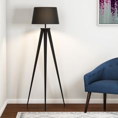 Shop for Carson Carrington Fredrikstad Tripod Floor Lamp. Get free delivery On EVERYTHING* Overstock - Your Online Lamps & Lamp Shades Store! Spotlight Floor Lamp, Ceiling Fan, Ceiling Lights, Interior Styling, Interior Design, Lamp Shade Store, Tripod Lamp, Light Decorations, Modern Design