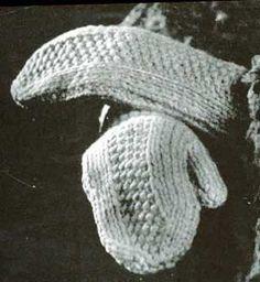 Panel Backed Mittens    This free pattern originally published by Nomis Yarn Company, Volume 21, in 1948.