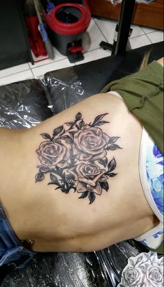 roses on ribs :)