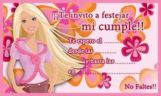 Tarjeta de cumpleaños de Barbie para imprimir Barbie Birthday Party, Barbie Party, Doll Party, Birthday Party Themes, Barbie Invitations, Birthday Invitations, Bird Party, Hand Painted Wine Glasses, Party Kit